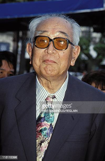 Akira Kurosawa presents 'Madadayo' Cannes Film Festival in Cannes France on May 14 1993