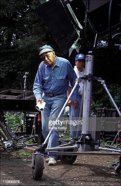 Akira Kurozawa On Filming Of 'Madamayo' In Japan On June 15 1992 Kurosawa on set
