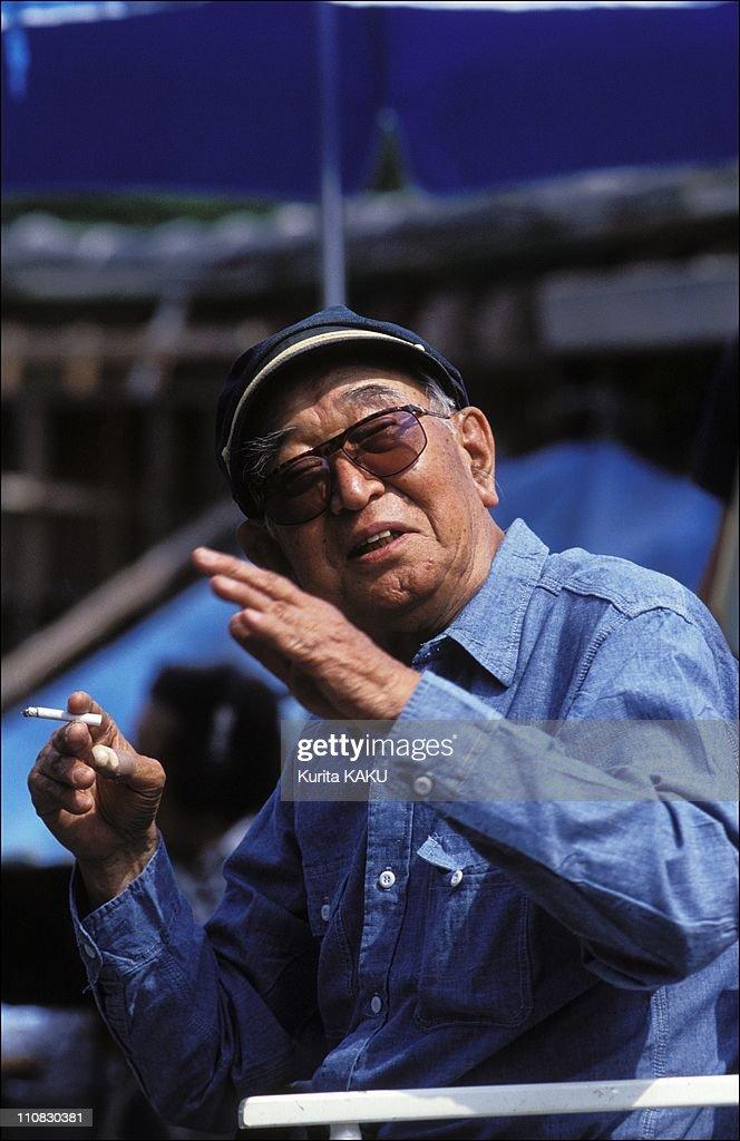 """Akira Kurozawa On Filming Of """"Madamayo"""" In Japan On June 15, 1992. : ニュース写真"""