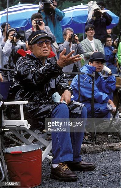 Akira Kurozawa On Filming Of 'Madamayo' In Japan On June 15 1992 Kurosawa invited first time on a set 150 journalists