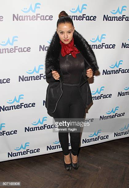 Akira of Exquisite by Nature attends the NameFacecom launch party at No 8 on January 27 2016 in New York City