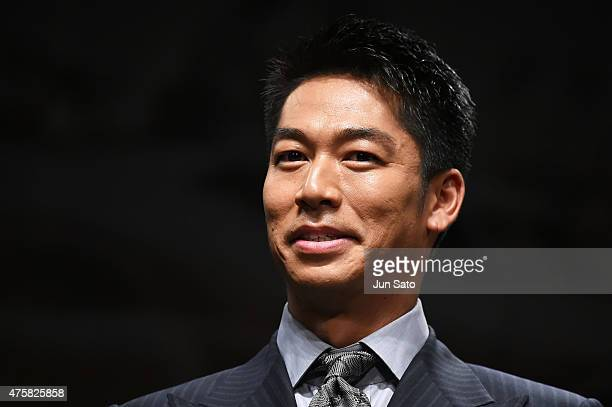 Akira of performing group Exile attends the 'Mad Max Fury Road' Japan premiere at Tokyo Dome City Hall on June 4 2015 in Tokyo Japan