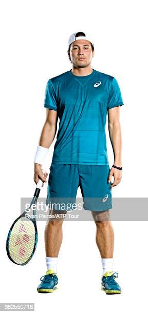 Akira Santillan of Australia poses for portraits during the Australian Open at Melbourne Park on January 12 2018 in Melbourne Australia