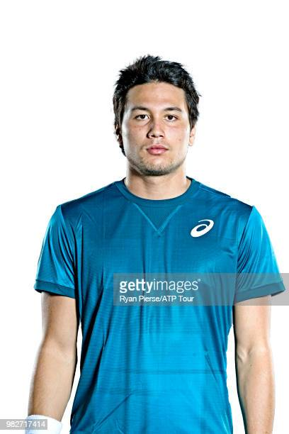 Akire Santillan of Australia poses for portraits during the Australian Open at Melbourne Park on January 12 2018 in Melbourne Australia