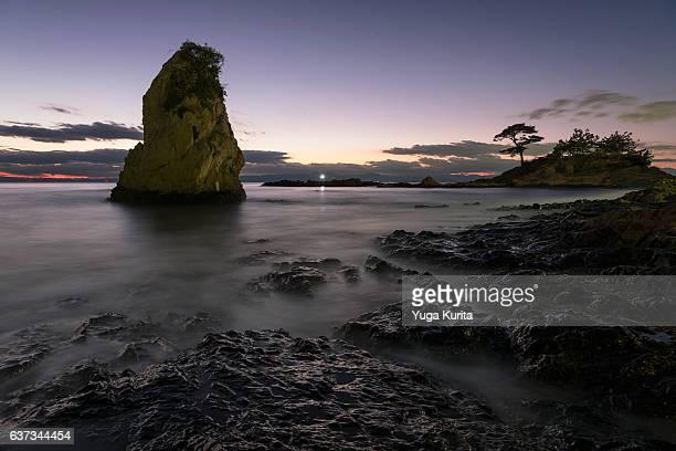 Akitani, the Tateishi (Monolith) shore