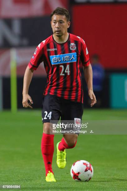 Akito Fukumori of Consadole Sapporo in action during the JLeague J1 match between Consadole Sapporo and Omiya Ardija at Sapporo Dome on May 6 2017 in...