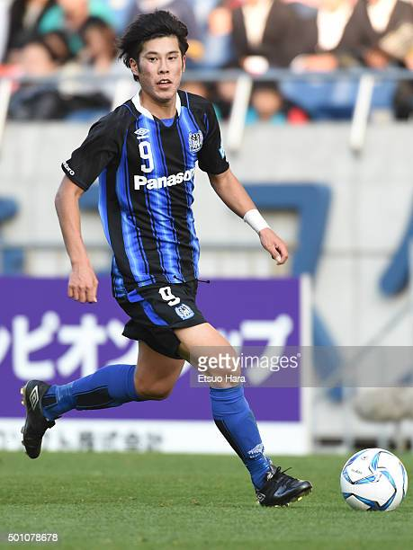 Akito Takagi of Gamba Osaka Youth in action during the Prince Takamado Trophy All Japan Youth Football League Championship match between Kashima...