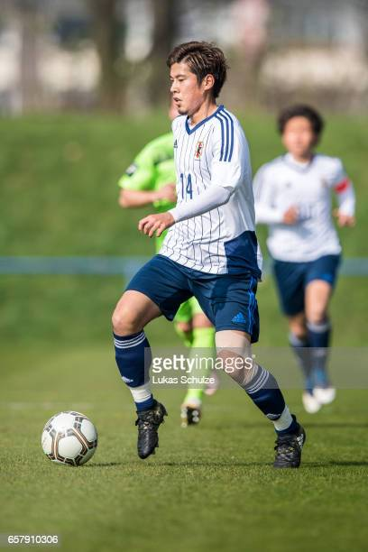 Akito Takagi of Japan in action during a Friendly Match between MSV Duisburg and the U20 Japan on March 26 2017 in Duisburg Germany