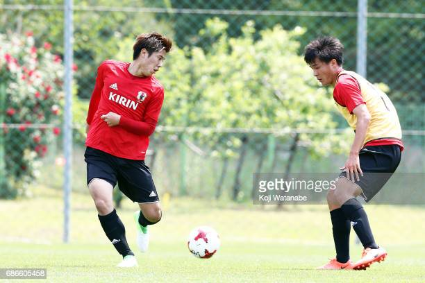 Akito Takagi of Japan in action during a training session ahead of the FIFA U20 World Cup Korea Republic 2017 group D match against Uruguay on May 22...