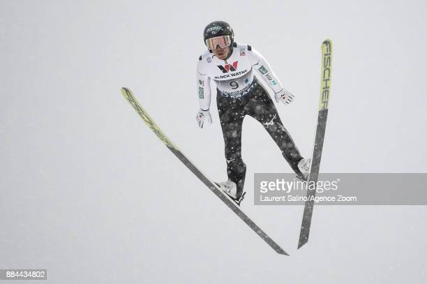 Akito Watabe of Japan competes during the FIS Nordic World Cup Men's and Women's Nordic Combined HS100/Team on December 2 2017 in Lillehammer Norway