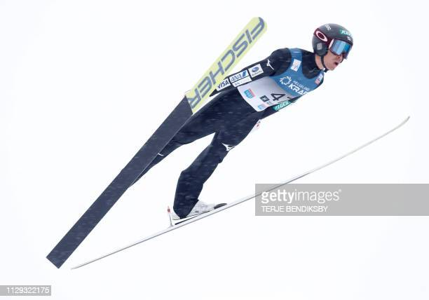 Akito Watabe of Japan competes during the FIS Ski Jumping World Cup Men´s Nordic Combined in Holmenkollen, on March 9, 2019. / Norway OUT
