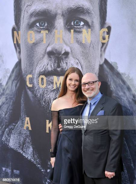 Akiva Goldsman and Joann Richter arrive at the premiere of Warner Bros Pictures' King Arthur Legend Of The Sword at TCL Chinese Theatre on May 8 2017...