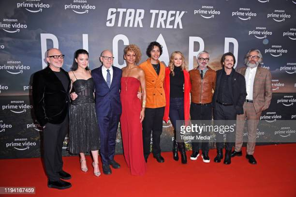 Akiva Goldsman Isa Briones Sir Patrick Stewart Michelle Hurd Evan Evagora Jeri Ryan Alex Kurtzman Jonathan Del Arco and Michael Chabon attend the...