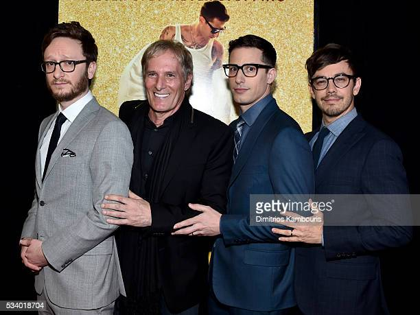 Akiva Schaffer Michael Bolton Andy Sambert and Jorma Taccone attends 'Popstar Never Stop Never Stopping' premiere at AMC Loews Lincoln Square 13...