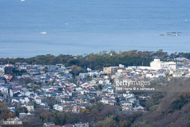 Akiya area of Yokosuka city and Sagami Bay, Northern Pacific Ocean in Kanagawa prefecture in Japan