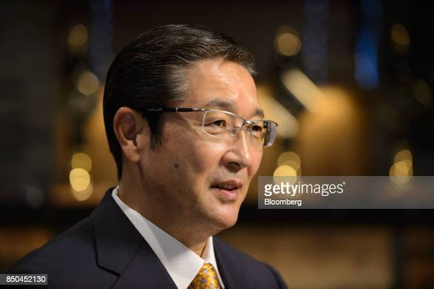 Akiyoshi Koji president and chief operating officer of Asahi Group Holdings Ltd speaks during an interview in Tokyo Japan on Thursday Sept 21 2017...