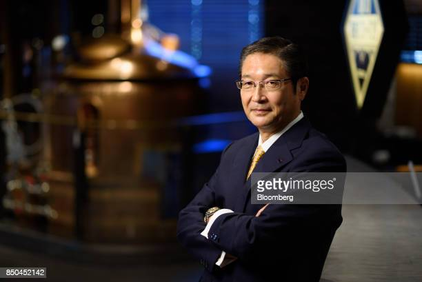 Akiyoshi Koji president and chief operating officer of Asahi Group Holdings Ltd poses for a photograph in Tokyo Japan on Thursday Sept 21 2017 Sales...