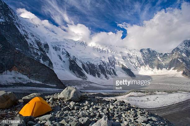 "Ak-kem glacier and ""wall"". Beluha. Altay."