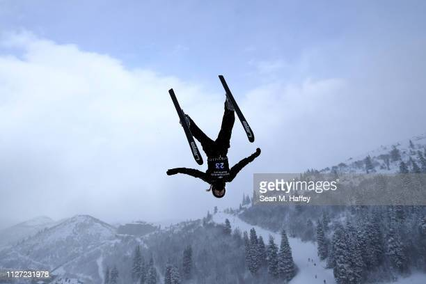 Akmarzhan Kalmurzayeva of Kazakhstan takes a training run during the Ladies' Aerials training session for the FIS Freestyle Ski World Championships...