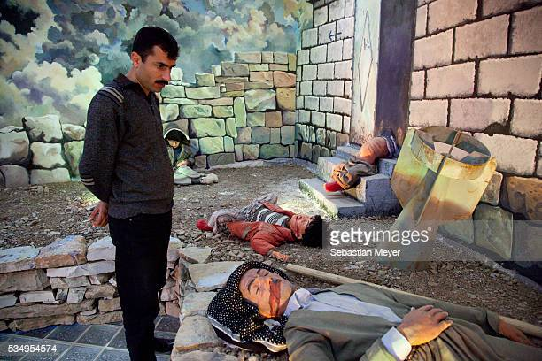 Ako Abdullah looks a display depicting the 1988 gas attack on Halabja at the Halabja Memorial Museum. Although Iraqi Kurdistan was a region...