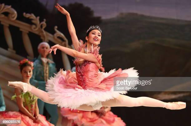 Ako Kondo performs as Princess Aurora during a dress rehearsal of David McAllister's production of The Sleeping Beauty on June 15 2017 in Melbourne...