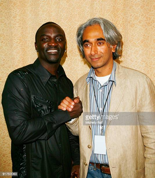 Akon and Bhavneet Singh MD and EVP MTV Networks International attend the MTV Africa Music Awards at the Moi Iternational Spts Centre on October 10...