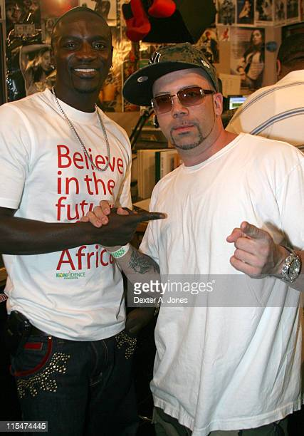 Akon and DJ Craig during Akon Hosts Hot 937FM's Annual Summer Cookout May 22 2007 in Farmington Connecticut United States