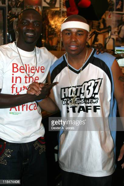 Akon and Kid Fresh during Akon Hosts Hot 937FM's Annual Summer Cookout May 22 2007 in Farmington Connecticut United States