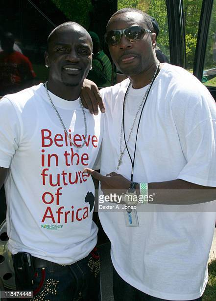 Akon and Lovey T during Akon Hosts Hot 937FM's Annual Summer Cookout May 22 2007 in Farmington Connecticut United States
