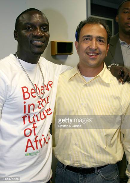 Akon and Steve Salhani during Akon Hosts Hot 937FM's Annual Summer Cookout May 22 2007 in Farmington Connecticut United States