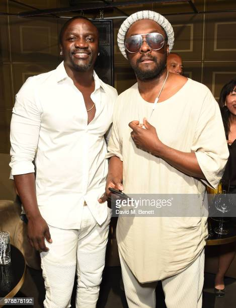 Akon and William attend the Vast Digital and The Foundry @ Meredith Corp creative challenge during the Cannes Lion Festival on June 19 2018 in Cannes...