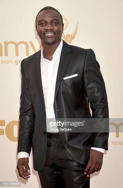 Akon arrives at the Academy of Television Arts Sciences 63rd Primetime Emmy Awards at Nokia Theatre LA Live on September 18 2011 in Los Angeles...