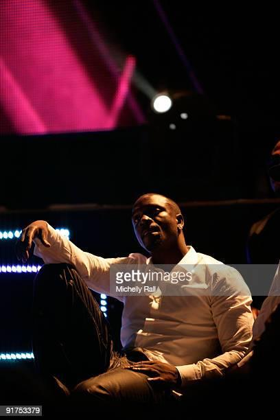 Akon at the MTV Africa Music Awards with Zain at the Moi International Sports Centre on October 10 2009 in Nairobi Kenya