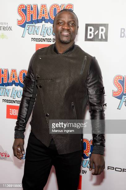 Akon attends Shaq's Fun House at Live At The Battery on February 01 2019 in Atlanta Georgia