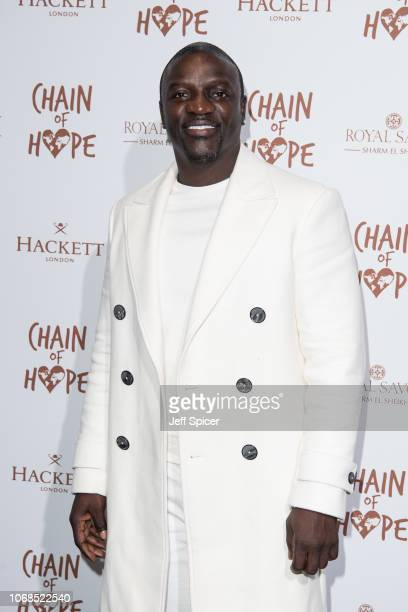 Akon attends the Chain Of Hope Gala Ball 2018 at Old Billingsgate on November 16 2018 in London England