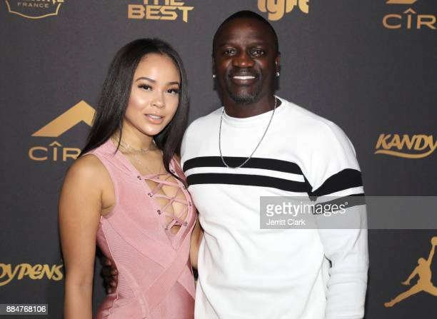 Akon attends The Four cast Sean Diddy Combs Fergie and Meghan Trainor Host DJ Khaled's Birthday Presented by CÎROC and Fox on December 2 2017 in...