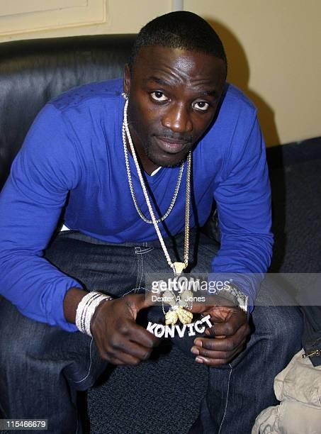 Akon during Hot 937 Jingle Jam 06 at the Hartford Civic Center December 10 2006 at The Hartford Civic Center in Hartford Conneticut United States