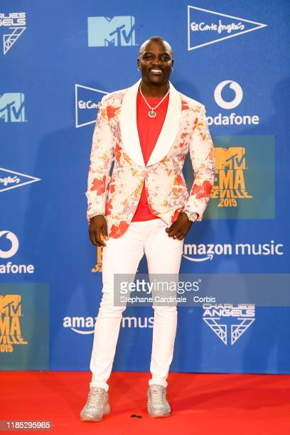 Akon in the winner room during the MTV EMAs 2019 at FIBES Conference and Exhibition Centre on November 03 2019 in Seville Spain