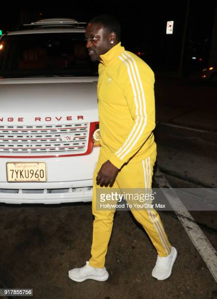 Akon is seen on February 12 2018 in Los Angeles California