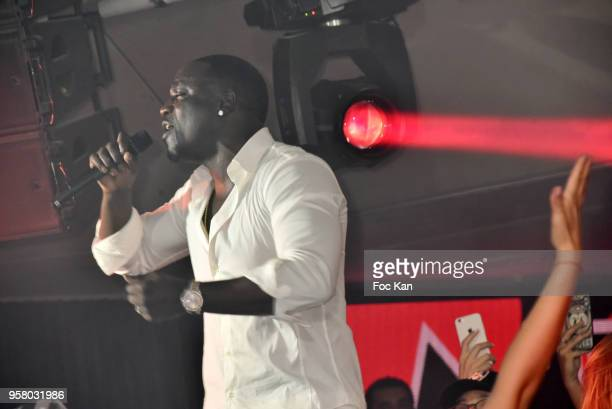 Akon performs during the Akon Party at the VIP Room JW Marriott during the 71st annual Cannes Film Festival at Palais des Festivals on May 12 2018 in...