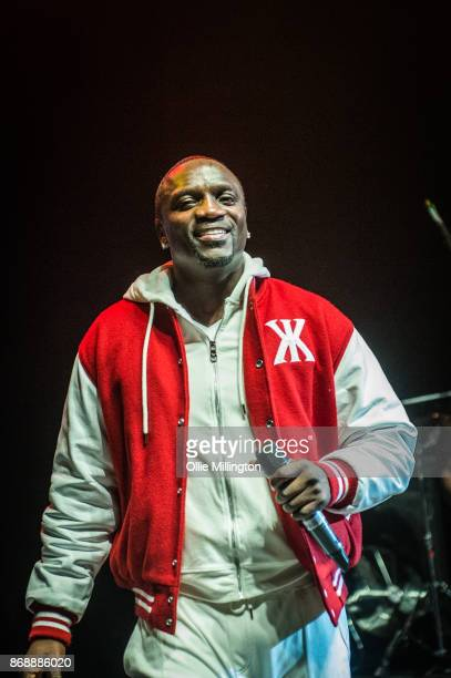 Akon performs live on stage Konvict Kartel at the O2 Shepherd's Bush Empire on October 31 2017 in London England