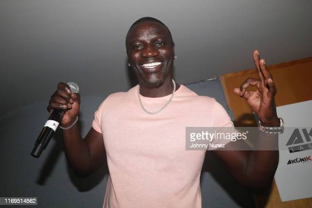 Akon speaks at the AKONIK listening session at Platinum Sounds on August 21 2019 in New York City