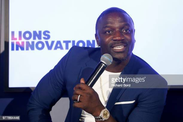 Akon talks during the GABBCON session at the Cannes Lions Festival 2018 on June 18 2018 in Cannes France