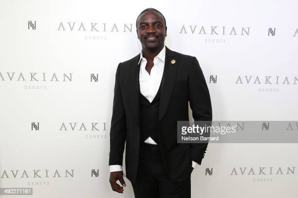 Akon visits The Avakian Suite on May 19 2014 in Cannes France