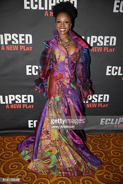 Akosua Busia attends Eclipsed Broadway Opening Night party at Gotham Hall on March 6 2016 in New York City