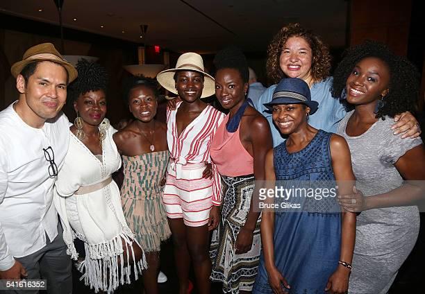 Akosua Busia, Zainab Jah, Lupita Nyong'o, Playwright Danai Gurira, Director Liesl Tommy, Pascale Armand, Saycon Sengbloh and Producer/Deputy Director...