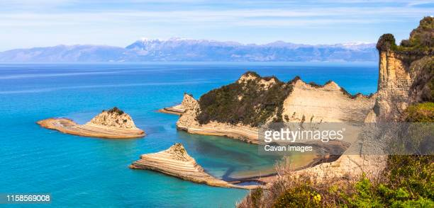 akra drastis cape in corfu island - corfu stock pictures, royalty-free photos & images