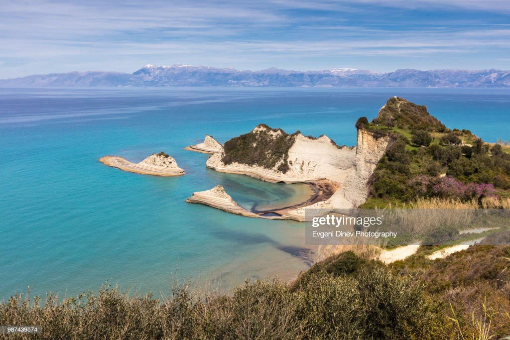 Akra Drastis cape in Corfu Island : Stock Photo