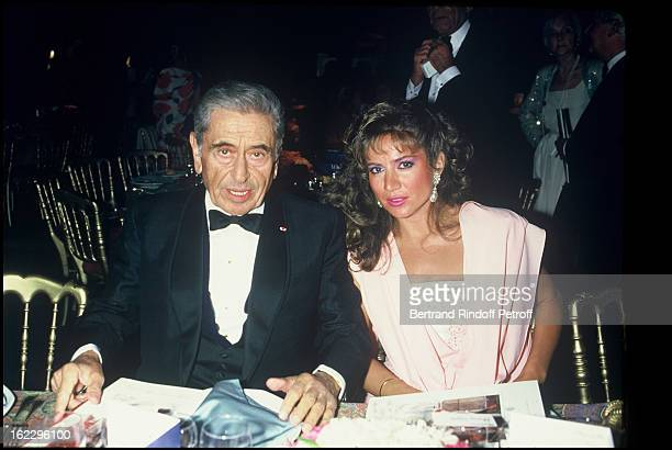 Akram Ojjeh and his wife at the Vogue magazine party in Paris, 1985 .