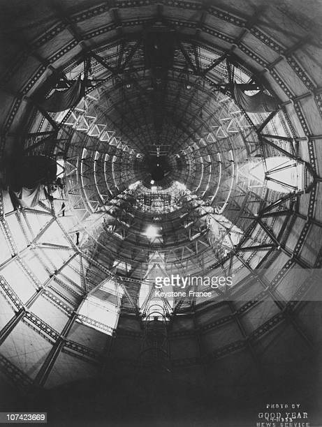Akron Interior Of The Framework Of The Uss Macon In Ohio In Usa